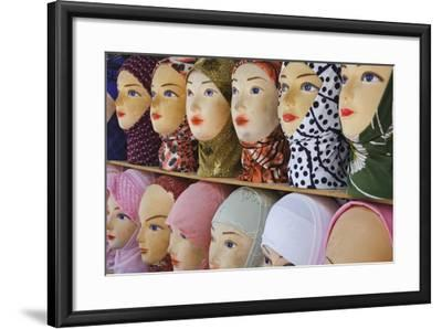 Head Scarves for Sale in the Muslim Quarter-Jon Hicks-Framed Photographic Print