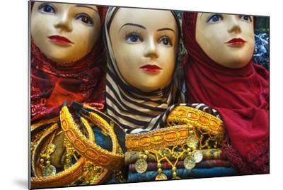 Head Scarves for Sale in the Muslim Quarter-Jon Hicks-Mounted Photographic Print