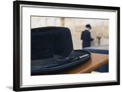 Close-Up of a Hasidic Jew's Hat at the Western Wall-Jon Hicks-Framed Photographic Print