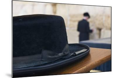 Close-Up of a Hasidic Jew's Hat at the Western Wall-Jon Hicks-Mounted Photographic Print