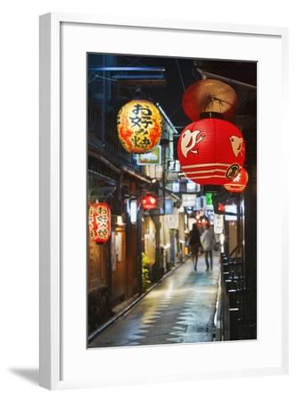 Narrow Street in Pontocho-Jon Hicks-Framed Photographic Print