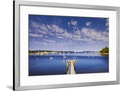 Pier near Southwest Harbor-Jon Hicks-Framed Photographic Print