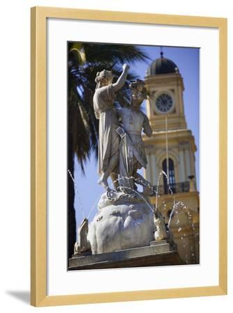 Fountain Dedicated to Simon Bolivar in Santiago-Jon Hicks-Framed Photographic Print