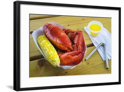 Maine Lobster and Corn on the Cob-Jon Hicks-Framed Photographic Print