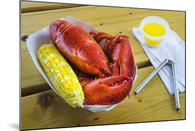 Maine Lobster and Corn on the Cob-Jon Hicks-Mounted Photographic Print