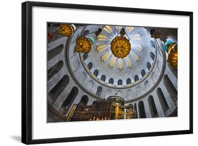 Dome Interior in the Church of the Holy Sepulchre-Jon Hicks-Framed Photographic Print