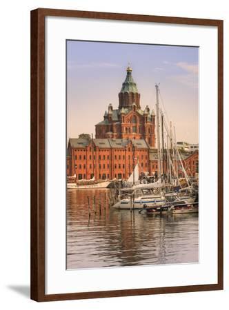 Uspenski Cathedral and Helsinki Harbor-Jon Hicks-Framed Photographic Print