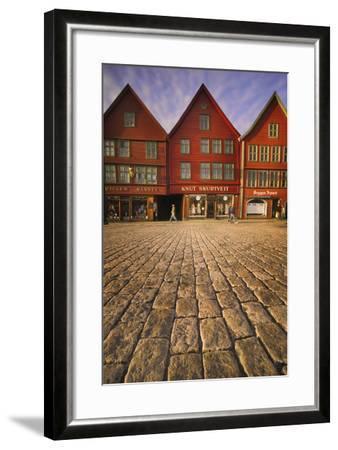 Row Houses in Bryggen-Jon Hicks-Framed Photographic Print
