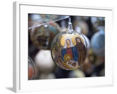 Baubles for Sale in the Viennese Christmas Market, Vienna, Austria.-Jon Hicks-Framed Photographic Print