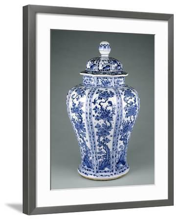 Ming Dynasty Blue and White Lidded Vase--Framed Photographic Print