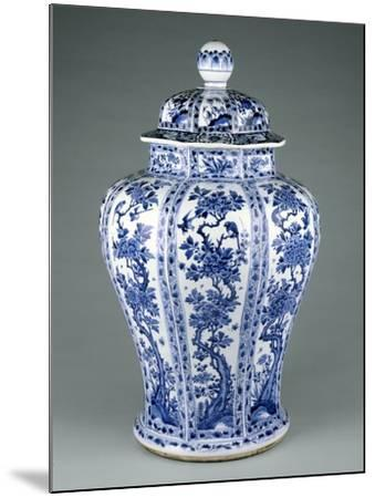 Ming Dynasty Blue and White Lidded Vase--Mounted Photographic Print