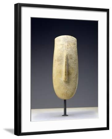 Head of a Large Female Cycladic Figure of the Early Spedos Variety--Framed Photographic Print