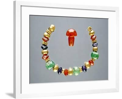 Ancient Greek Beads, Made in Egypt--Framed Photographic Print