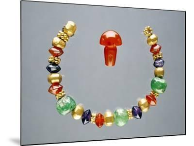 Ancient Greek Beads, Made in Egypt--Mounted Photographic Print