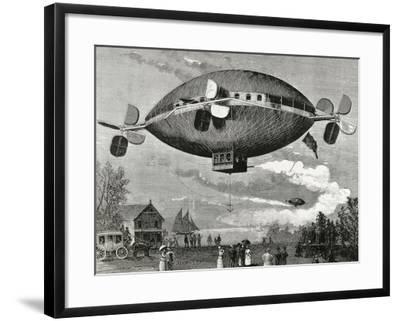 Aerostat. Engraving in the Illustration , 1887.-Tarker-Framed Photographic Print
