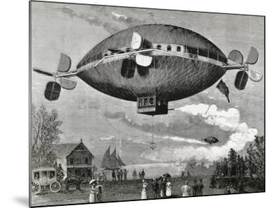 Aerostat. Engraving in the Illustration , 1887.-Tarker-Mounted Photographic Print