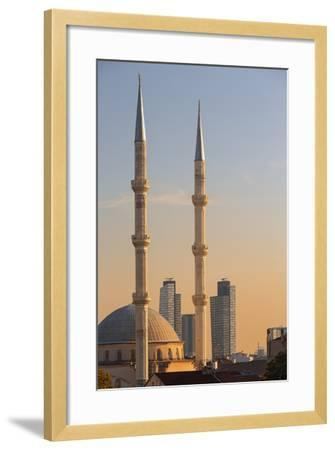 Levent Mosque at Sunset.-Jon Hicks-Framed Photographic Print