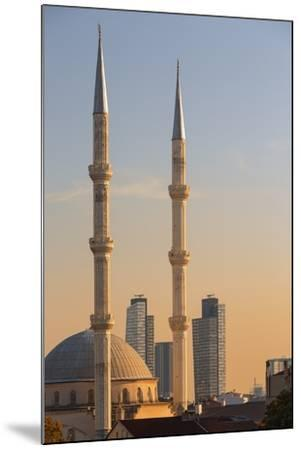 Levent Mosque at Sunset.-Jon Hicks-Mounted Photographic Print