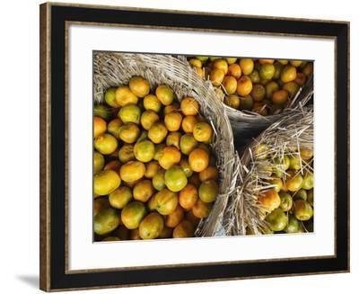 Oranges in a Myanmar Market-Jon Hicks-Framed Photographic Print