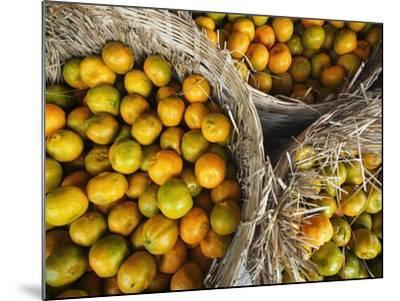 Oranges in a Myanmar Market-Jon Hicks-Mounted Photographic Print