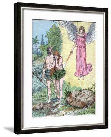 Adam and Eve Expelled from Paradise by Henri Grobet-Stefano Bianchetti-Framed Photographic Print