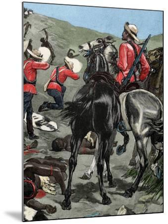 Anglo-Zulu War. Fought in 1879 between the British Empire and the Zulu Kingdom. Engraving. Colored.-Tarker-Mounted Photographic Print