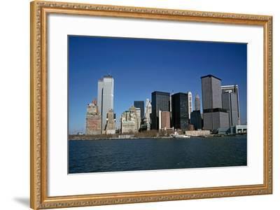 Lower Manhattan from Staten Island Ferry, New York City, Usa, 1972-Alain Le Garsmeur-Framed Photographic Print
