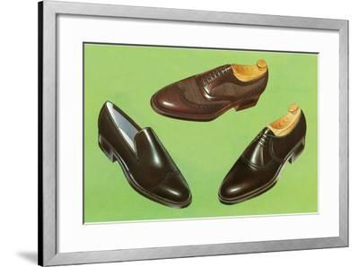 Three Men's Shoes-Found Image Press-Framed Photographic Print