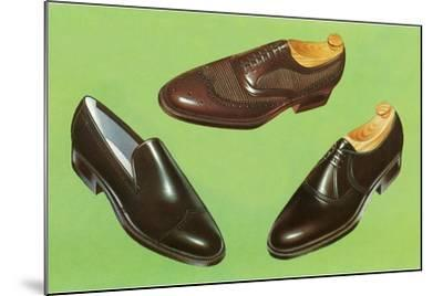 Three Men's Shoes-Found Image Press-Mounted Photographic Print