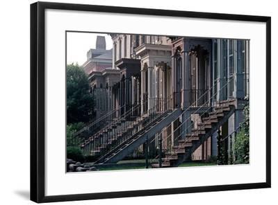Historic Savannah, Bull Street, Savannah, Georgia, Usa, July 1983-Alain Le Garsmeur-Framed Photographic Print
