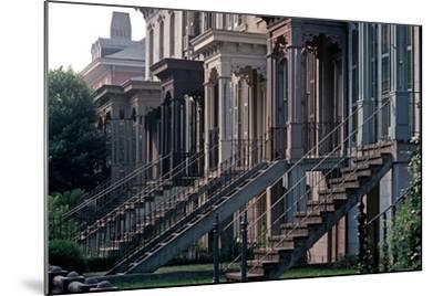 Historic Savannah, Bull Street, Savannah, Georgia, Usa, July 1983-Alain Le Garsmeur-Mounted Photographic Print