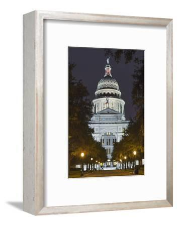 The Texas State Capitol Building in Austin, Texas.-Jon Hicks-Framed Photographic Print