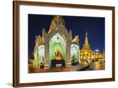 Shwedagon Paya at Dusk-Jon Hicks-Framed Photographic Print