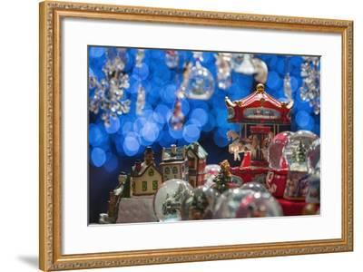 Christmas Ornaments for Sale in the Verona Christmas Market, Italy.-Jon Hicks-Framed Photographic Print