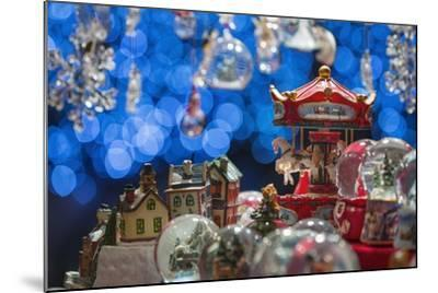 Christmas Ornaments for Sale in the Verona Christmas Market, Italy.-Jon Hicks-Mounted Photographic Print