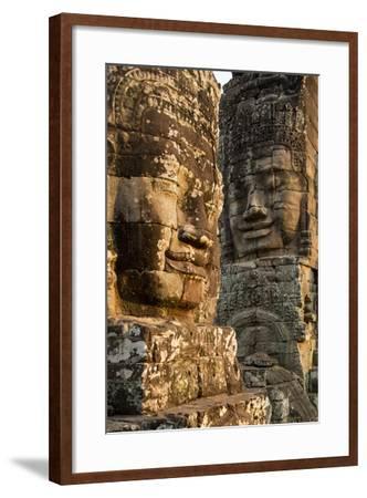Bayon Temple, Angkor Wat, Siem Reap, Cambodia-Paul Souders-Framed Photographic Print