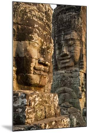 Bayon Temple, Angkor Wat, Siem Reap, Cambodia-Paul Souders-Mounted Photographic Print