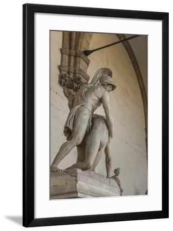 Piazza Signoria, Loggia Dei Lanzi, Patroclo E Menelao-Guido Cozzi-Framed Photographic Print