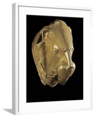 Mycenaean Art : Gold Lion's Head Rhyton--Framed Photographic Print