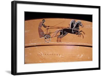 Etruscan Art: a Chariot Drawn by Two Horses (On a Vase)--Framed Photographic Print