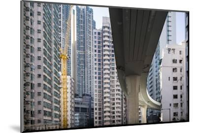 Highway Overpass and Apartment Towers, Hong Kong, China-Paul Souders-Mounted Photographic Print