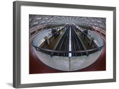 A Washington DC Metro Station.-Jon Hicks-Framed Photographic Print