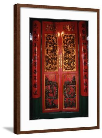Doors at the Man Mo Temple-Macduff Everton-Framed Photographic Print