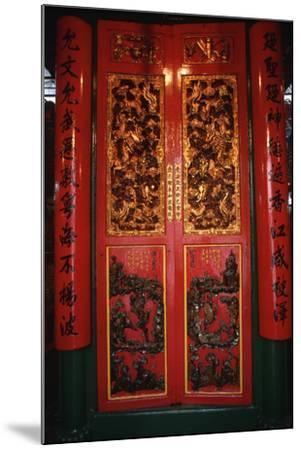 Doors at the Man Mo Temple-Macduff Everton-Mounted Photographic Print
