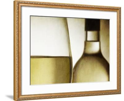 Glass of White Wine and Bottle-Steve Lupton-Framed Photographic Print