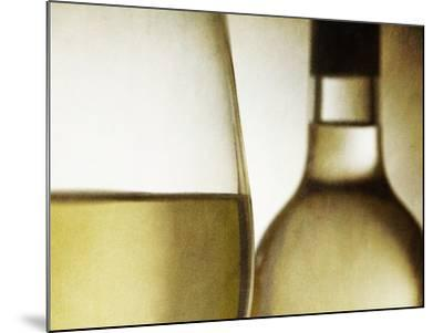 Glass of White Wine and Bottle-Steve Lupton-Mounted Photographic Print