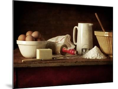 Ingredients and Utensils for Baking-Steve Lupton-Mounted Photographic Print