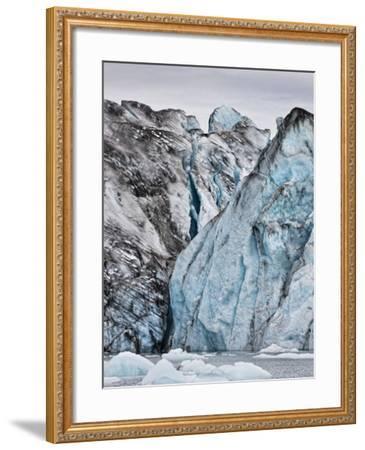 Ice Walls- Jokulsarlon Glacial Lagoon, Breidarmerkurjokull Glacier, Vatnajokull Ice Cap, Iceland-Arctic-Images-Framed Photographic Print