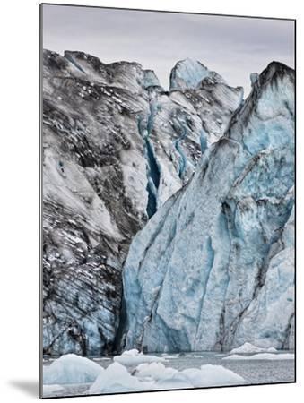 Ice Walls- Jokulsarlon Glacial Lagoon, Breidarmerkurjokull Glacier, Vatnajokull Ice Cap, Iceland-Arctic-Images-Mounted Photographic Print