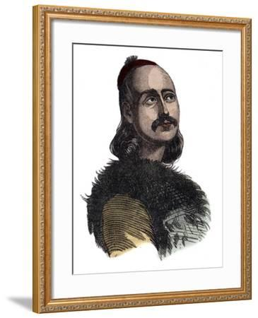 Greek General Markos Botzaris-Stefano Bianchetti-Framed Photographic Print